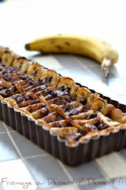 dessert rapide chocolat banane fromage ou dessert dessert tarte banane et chocolat au