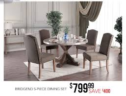 Rustic Marble And Wood X-Base Round 5 Piece Dining Set - Bridgend ... Coaster Jamestown Rustic Live Edge Ding Table Muses 5piece Round Set With Slipcover Parsons Chairs By Progressive Fniture At Lindys Company Tips To Mix And Match Room Successfully Kitchen Home W 4 Ladder Back Side Universal Belfort Bradleys Etc Utah Mattrses Fine Parkins Parson Chair In Amber Of 2 Burnham Bench Scott Living Value City John Thomas Thomasville Nc Hillsdale 4670dtbwc4 Coleman Golden Brown