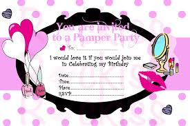 Pamper Party Invitation Templates