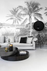 fototapete landschaft mit palmen schwarz weiß origin