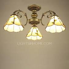 living room 3 light semi flush ceiling light e27 bulb base
