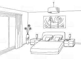 Bedroom Clipart by Bedroom Clipart Home Interior Pencil And In Color Bedroom