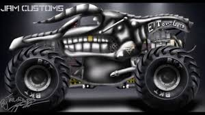 El Toro Loco Monster Truck Time Lapse Drawing - YouTube