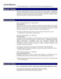 Security Resume Sample Guard Example Free Templates Information Manager
