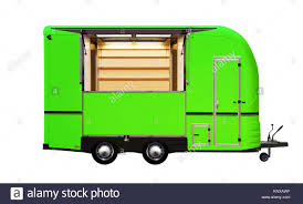100 Green Food Truck 3D Illustration Of Green Food Truck Isolated On White