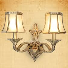 2 light bronze material luxury style modern wall sconces lighting