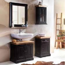 pharao24 de badezimmer set im kolonial design schwarz und honigfarben 4 teilig