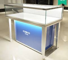 Aluminum Alloy Frame Mobile Jewelry Store Showcases Lighted Display Case