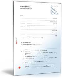 kaufvertrag vertrag zwischen privatleuten pdf