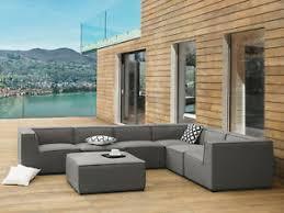 details zu designer lounge gartenmöbel sofa sitzgruppe grau terrasse wohnzimmer