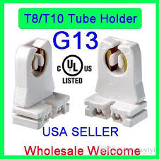ul listed non shunted t8 l holder ruixin socket tombstone for