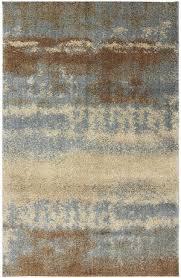 Rug Craftsmen Shaggy Vibes 9596 Stratus Aspen Blue Closeout