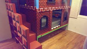 Wicked awesome bunk bed my friend built her kid gaming