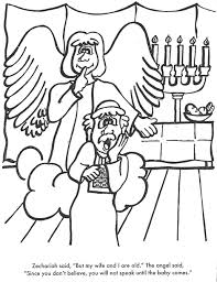 Zechariah And Elizabeth Bible Coloring Page For Kids To Learn Stories