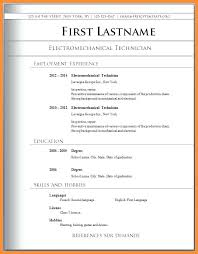 Resume Format Template Formal Free Basic Templates Sample Word Malaysia