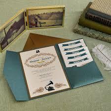 Wedding Invitations Pocket Vintage Invite Main Rustic Uk