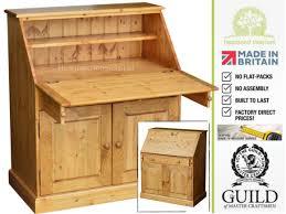 bureau furniture solid pine 3ft wide laptop writing bureau desk made to measure