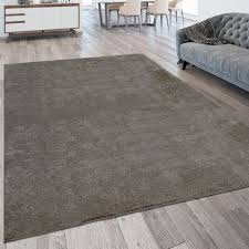 pile rug washable one colour taupe