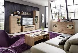 wohnwand wohnzimmer set 2 plus 4 tlg vitrine tv unterteil wandboard artisan eiche led beleuchtung