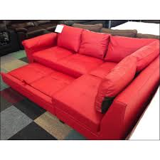 Las Vegas 2 Seater Fabric Sofa Bed With Foam Mattress Natural