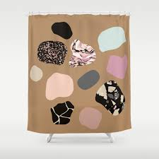 100 Residence Curtains HOT PEBBLES Shower Curtain