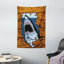 hai wandbehang wilde fisch holzbrett einfache wohnzimmer