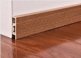 Waterproof PVC Skirting Boards For Wall Base With Wooden Color