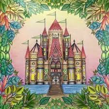 Castle Leaves Enchanted Forest Castelo Floresta Encantada Johanna Basford Adult ColoringColoring BooksColouringJohanna