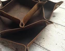 mens leather dresser valet valet tray etsy