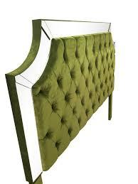 Velvet Headboard King Size by Green Velvet King Size Upholstered Headboard With Mirrors King