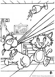 Dog And Cat Having Fun Coloring Page Do You Like DOG Pages Can Print Out This Pagev Or Color It Online