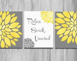 bathroom wall art set prints vintage modern relax soak unwind