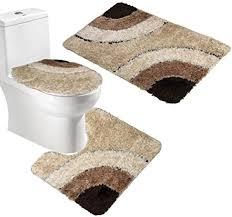 livecity 3 teiliges badematten set aus mikrofaser wc