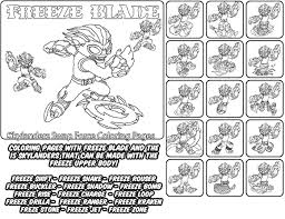 Printable Coloring Page For Kids With Skylanders Swap Force FREEZE BLADE And All The Different Skylander