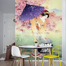 Sakura Trees Wall Mural Custom 3d Wallpaper For Walls Umbrella Geisha Photo Bedroom Hallway Japanese Restaurant Covering Home Sports