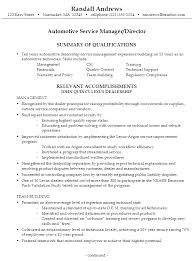 Job Resume Sample Automotive Technician Objective Examples Images Of Store Manager Description