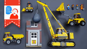 Learning Construction Vehicles For Kids With Lego Demolition Crane ...