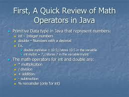 math with java the math class first a quick review of math