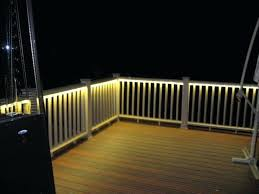 Menards Cedar Deck Boards by Led Deck Rail Lighting Kits Railing Ideas Cheap Systems Canada