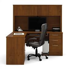 Cymax Desk With Hutch by Bestar Embassy L Shape Home Office Wood Computer Desk Set With