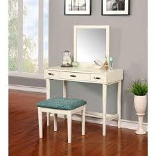 Linon Home Decor Garbo 2 Piece Cream Vanity Set CRM01 The