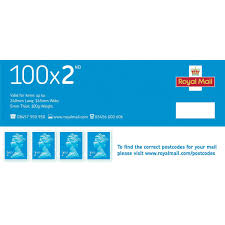 Royal Mail Second Class Stamps Pack 100 Colyer Repropoint