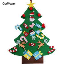Ourwarm 2018 Diy Felt Christmas Tree Pendant Drop Ornaments New Year Gift For Children Kids Door Wall Hanging Xmas Decoration Big Outdoors