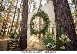 Wedding Arch And Decorations For Rustic Ceremony