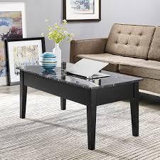 dorel living faux marble lift top coffee table walmart com