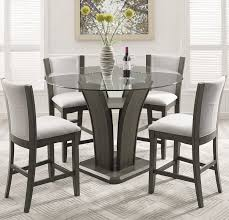 5 Piece Oval Dining Room Sets by Brayden Studio Kangas 5 Piece Round Glass Top Counter Height