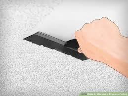 Remove Popcorn Ceilings Dry by How To Remove A Popcorn Ceiling 12 Steps With Pictures