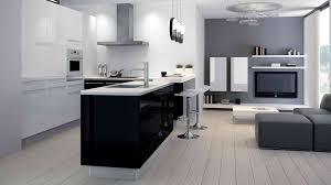 photo de cuisine design cuisine equipee noir et blanc 10 galerie blanche systembase co