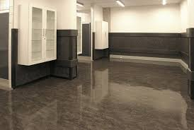 Wonderful Gray Gloss Linoleum Flooring Like Granite Floors As Well Two Tone Wall Painted Color Schemes Ideas