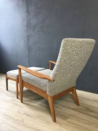 Kent Coffey Dresser The Pilot by Parker Knoll Upholstered Lounge Chair With Ottoman Retrocraft